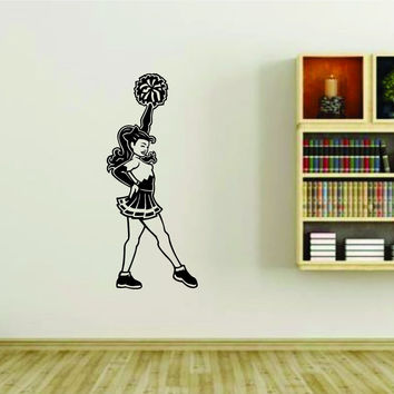Cheerleader Cheerleaders Cheer Version 125 Vinyl Wall Decal Sticker