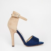 Paper Dolls Ankle Strap Heeled Sandals
