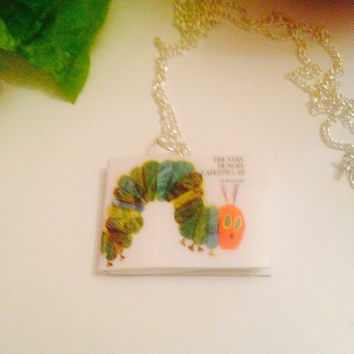 The very hungry caterpillar book necklace