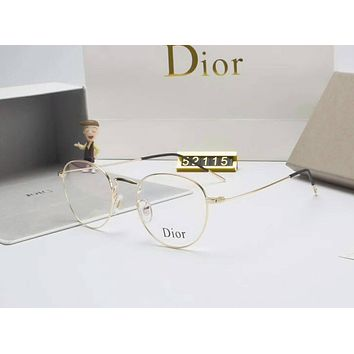 Dior Personality Fashion Popular Sun Shades Eyeglasses Glasses Sunglasses Gold I-A-SDYJ