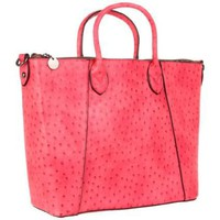 Sydney Love Ostrich Large Tote - designer shoes, handbags, jewelry, watches, and fashion accessories | endless.com