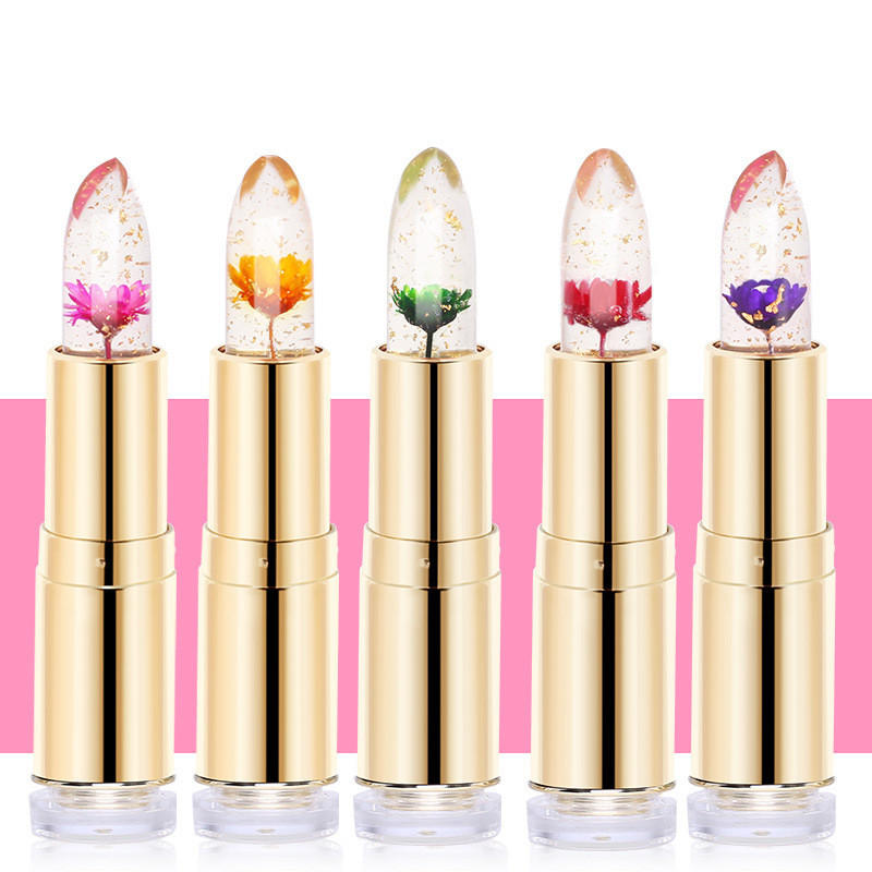 Image Is Loading Waterproof Flower Jelly Magic Color Changing Lipstick Change