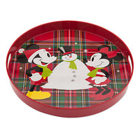 Disney Store Mickey & Minnie Share the Magic Holiday Tray New