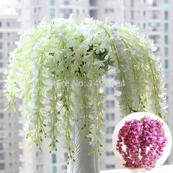 PEAPUG3 Classic  Romantic Artificial Wisteria Silk Flower Home Party Wedding Garden Floral Decoration = 1931825796