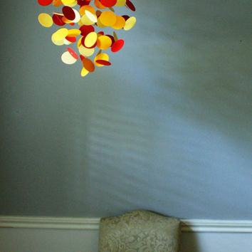Medium Red, Orange & Yellow Circle Chandelier