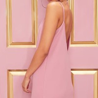 Rose Strappy Detail Backless Cami Dress