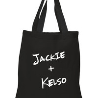 """That 70's Show """"Jackie + Kelso"""" 100% Cotton Tote Bag"""