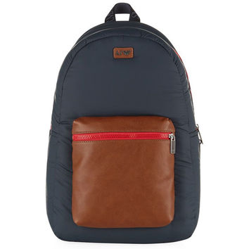 Armani Padded Leather Pocket Backpack