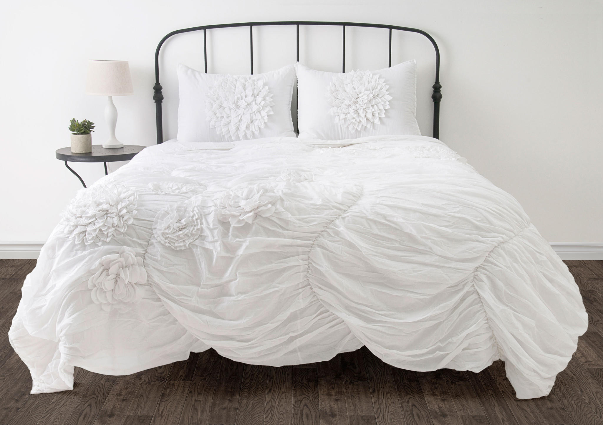 White Twin Size forter Bed Set from Michael Anthony