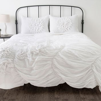 Hush White Twin Size Comforter Bed Set