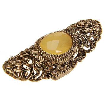 Cut-out Oval Stone Ring