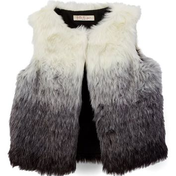 Gray Ombré Faux Fur Vest - Toddler & Girls