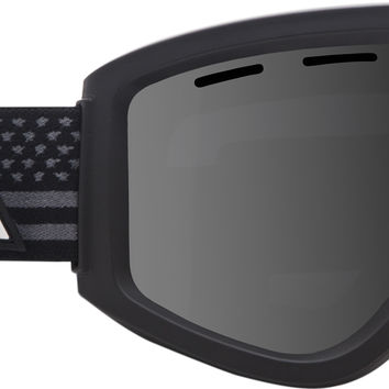 Ashbury Warlock Goggles - Black Flag/Dark Smoke + Yellow Lens
