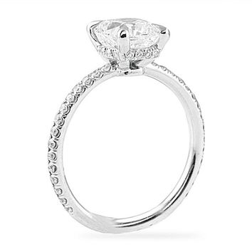 LEPOZZI 1.72 CT OVAL DIAMOND PLATINUM ENGAGEMENT RING