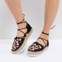 ASOS JULINA Embroidery Espadrilles at asos.com