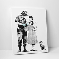 Dorothy Police Search by Banksy Gallery Wrapped Canvas Print