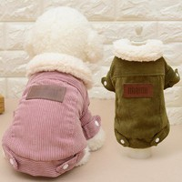 TAILUP Stripe Pet Dog Clothes for Small Dogs Jackets Coats Pet Clothes Dogs Clothes Winter Cotton Pet Clothing Costume