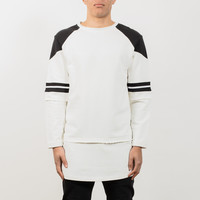 Short Sleeve Sweat With Jersey L/S T-Shirt - White