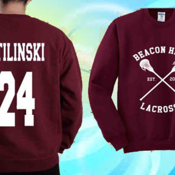 BEACON HILLS Stiles Stilinski 24 sweater design  Sweatshirt Crewneck Unisex Size