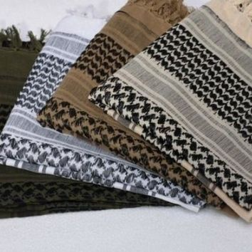 Army Military Tactical Unisex Arab Shemagh KeffIyeh Shawl Scarve Scarf Wrap -Thin Style
