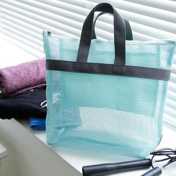 Swimming Bag Mesh Beach Bags Women Travel Bag Storage Organizers Summer Clothes Washing Package Packing Cubes Pockets For Girls