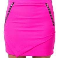 Asymmetric Zip Skirt