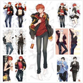 South Korea Game Mystic Messenger 707 Luciel Choi Hugging Body Pillow Cover Case Male Decorative Pillow covers New