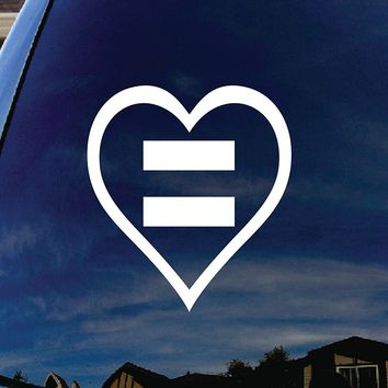 Human Rights Equal Sign Heart  Vinyl Sticker Decal Car Window Vinyl Decal Sticker laptop