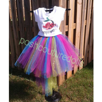 Little Mermaid Inspired Tutu (with Train) Set