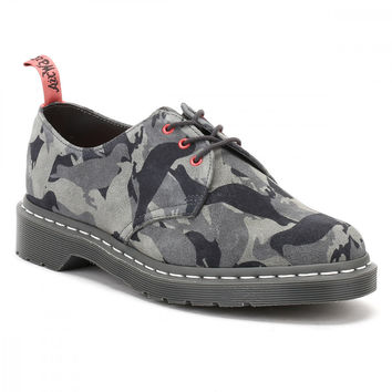 Dr. Martens Mens Pigeon Camo Suede Staple 1461 Shoes
