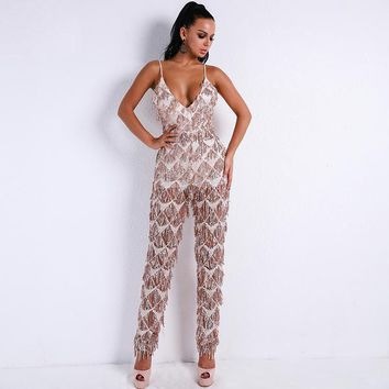 Kerry Jumpsuit - Rose Gold