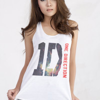 One Direction 1D Band Galaxy Design Tank Top