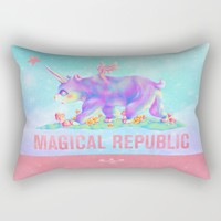 MAGICAL REPUBLIC Rectangular Pillow by Mimolette Monster