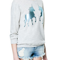 UNICORN VELOUR SWEATER - Sweatshirts - TRF - ZARA United States