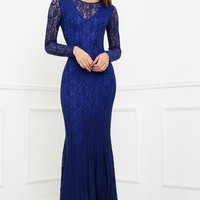Eleanor Lace Gown - Blue