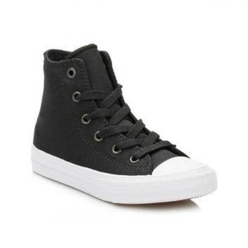 DCKL9 Converse All Star Chuck Taylor II Junior Black/White Hi Top Trainers