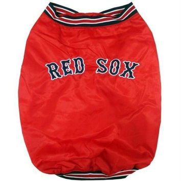 PEAPYW9 Boston Red Sox Pet Dugout Jacket