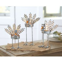 Tin Turkey Tea Lights by Mud Pie
