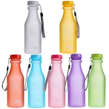 550ml Sports Water Bottle Container Leak-proof Bottle for Outdoor Traveling/Climbing/Camping Botellas De Plastico