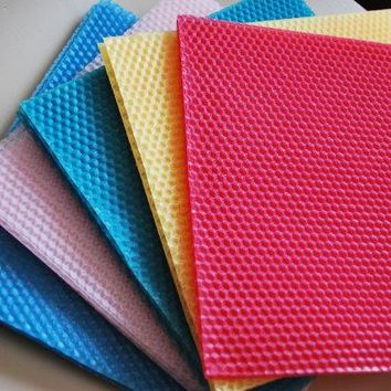 2 beeswax sheets - Honeycomb - 100% pure - Candle Making kit - square - CRAFTING - 8'' - lots colors
