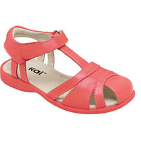 See Kai Run Raquel Peach Girls Sandal from seekairun.com - cool baby shoes, toddler shoes, kids shoes and baby booties.