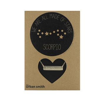 WE ARE ALL MADE OF STARS CONSTELLATION NECKLACE - SCORPIO