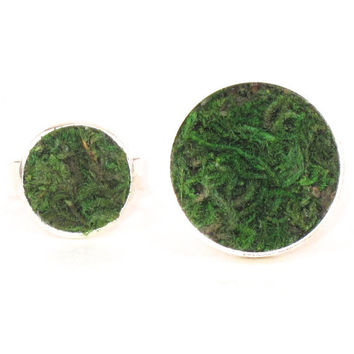 Moss Ring, Eco Friendly, Terrarium Ring, Terrarium Jewelry, Living Plant Jewelry, Earth Day, Garden Gift