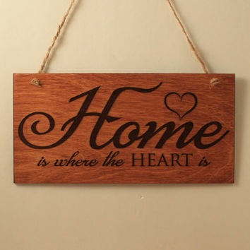 Home sign Wood sign Small sign Laser cut Laser engraved Free shipping Love decoration Home decoration Wooden sign Sign with quote Home quote