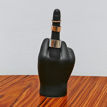 F*ck You Hand Ring Holder in Black - Urban Outfitters