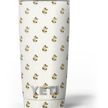 The Micro Daisy and Polka Dot Pattern Yeti Rambler Skin Kit