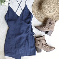 bad romance dress - indigo