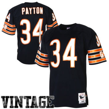 Walter Payton Chicago Bears Mitchell & Ness 1985 Authentic Throwback Jersey – Navy Blue