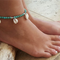 Shiny Gift New Arrival Ladies Jewelry Sexy Cute Turquoise Bohemia Stylish Anklet [6768757319]