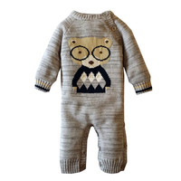Baby Cotton Romper Winter Jumpsuit Fleece Knit Thick Warm Cartoon Girls Boys Newborn 0 3 6 12 18 Months Kids Fashion Costume